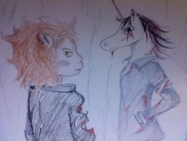 The Lion and the Unicorn by Lovely-Madness-13