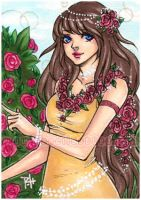 aceo - flower child by demon-rae