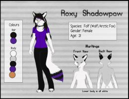 Roxy Ref Sheet 2 by RoxyShadowpaw