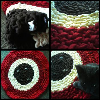 Squid Eye Rag Rug by CrystalsMuse