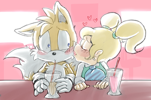 Tails And Eleanor :comm: by Blue-Chica