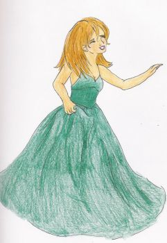 Persephone at the Ball by Leagrrl