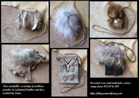 New necklace pouches 11-16 by lupagreenwolf