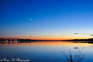 Sunset..Moonrise by Brian-B-Photography