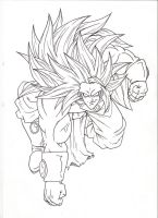 LSSj3 Broly idea. :Sketch: by moxie2D