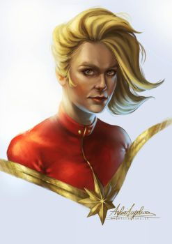 Captain Marvel [ Brie Larson ] by AngieParadiseeker