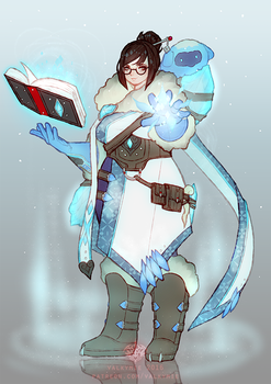 Overwatch Fantasy RPG AU - Mei the Frost Mage by Valkymie