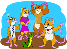 Boaz and his friends by DCLeadboot