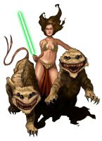 Star Wars Frank Frazetta Tribute by HeroforPain