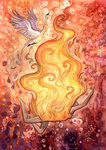 Falling into flames by Sunima