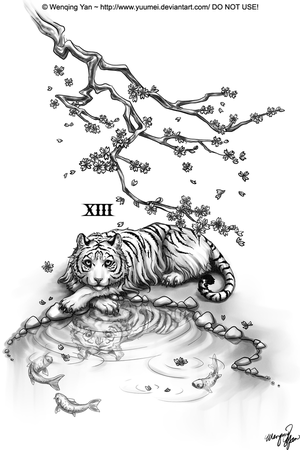 tattoo tiger. Dragon and tiger tattoo cool
