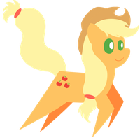 Applejack trotting by Dragonfoorm