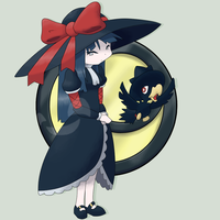 Dark Type Gym Leader: Eris by mssingno