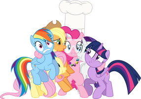 Mane Six Awkward Group Hug by Jeatz-Axl