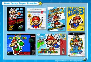 Paper Mario - Main Series Paper Parodies by ShadowLifeman