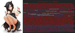 TG Caption - Halloween is a bitch by TGcompilation