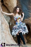 Recycled Magazine Dress I by DaisyViktoria