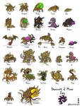 Starcraft II Minis: Zerg by Draguunthor