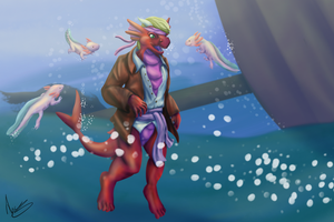 Pirate Dragon-Shark by AceSquirrel