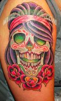 Sugar Skull Tat by SpikeJones67