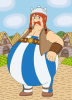 Obelix the biggest warrior of the Gaul Village by MCsaurus