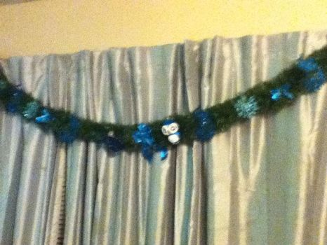 Peacock Christmas Garland by LadyMidnight81