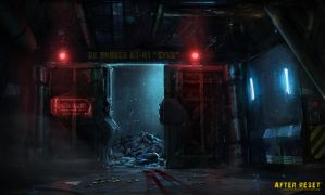 Bunker Entrance Concept Art by SalvadorTrakal