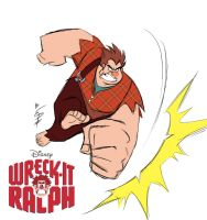 Wreck-it Ralph Sketch by eltonpot