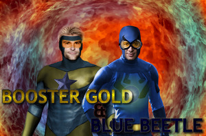 Booster Gold and Blue Beetle by Klemensduffe99
