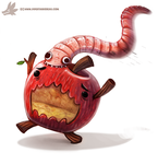 Daily Paint #976. Get off meeeee! (OG) by Cryptid-Creations