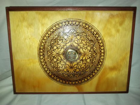 jewelry box pyrography lid by jtrat