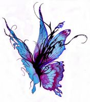 butterfly colored by nickinicki