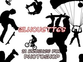 Silhouette brushes by InvisibleSnow