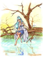 Astray - Priestess at the Pond by lenneth