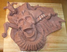 Death and the Fool rough clay by BLACKPLAGUE1348
