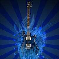 Guitar Abstract by Leo250
