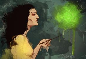 Bellatrix Lestrange by ladypumpkinseed