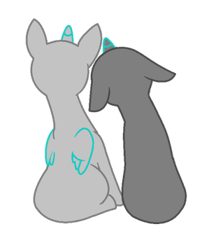 Pony couple Base. by BootiQueenx