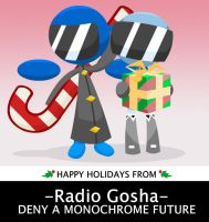 RADIO GOSHA Holiday Card by GoshaDole