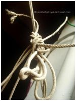 White Rope In Knots. by breathofbetrayal
