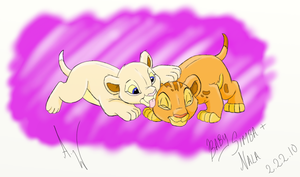 Baby Simba Nala by MidnightCharizard