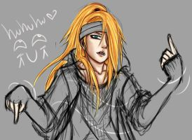 WIP: Deidara as Taemin :D by Hannami94