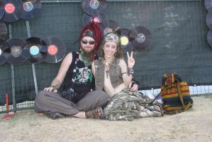 Peaceful Hippies by Alvyna