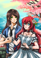 Spring Couple by shrimpHEBY