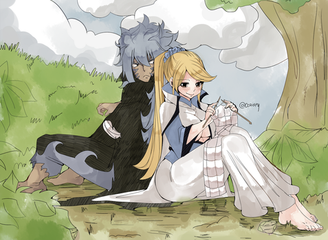 Anna and Acnologia by ccrispy