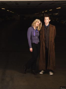 The Doctor and Rose Tyler by LoveLoveLace
