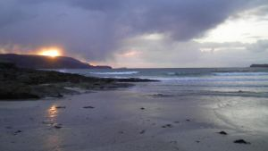 sunset balnakeil bay by merearthling