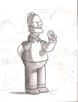 Homer Simpson-shading by artistmusic101