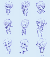 BL-A Chibis Sketches 1 by x--chu