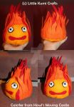 Calcifer Plushie Howls Moving Castle by lkcrafts